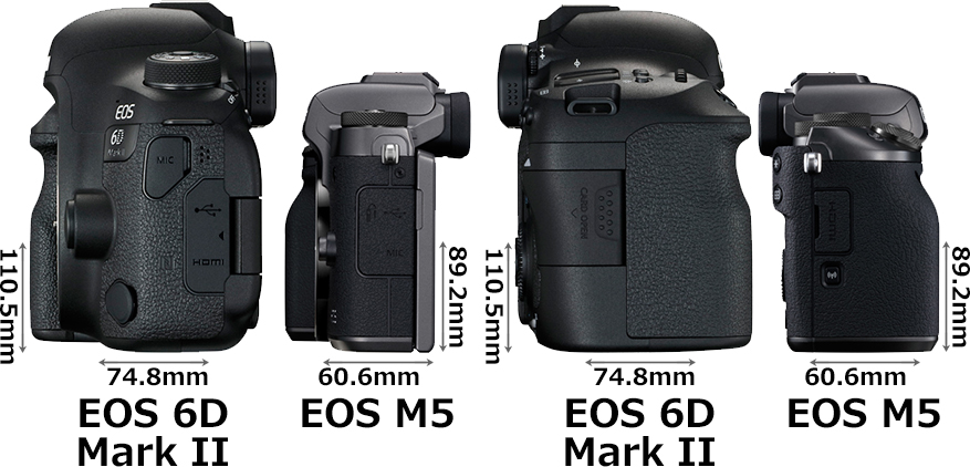 「EOS 6D Mark II」と「EOS M5」 4