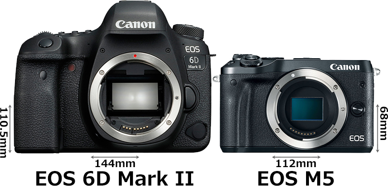 「EOS 6D Mark II」と「EOS M6」 1
