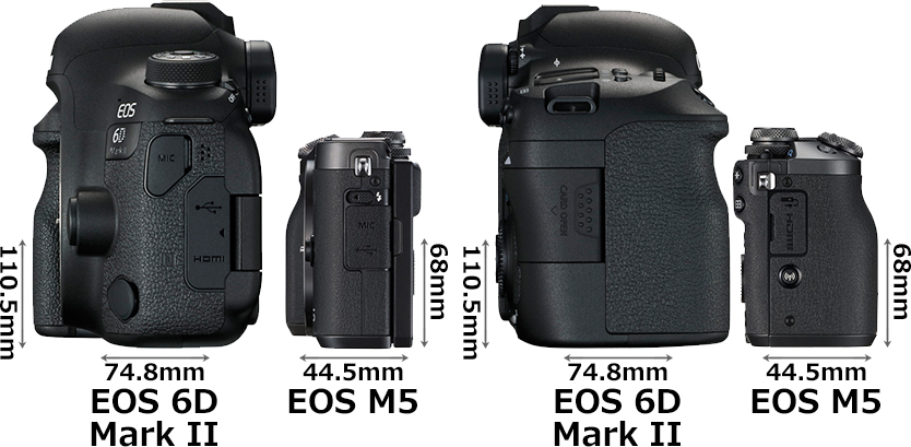 「EOS 6D Mark II」と「EOS M6」 4
