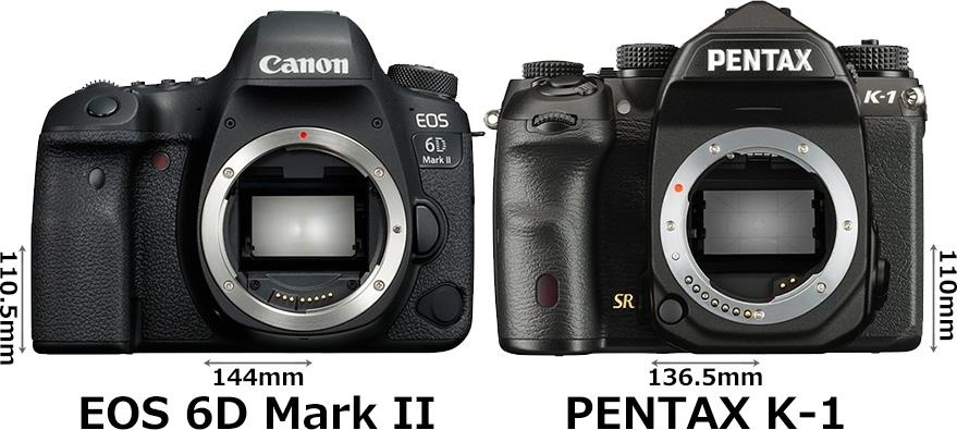 「EOS 6D Mark II」と「PENTAX K-1」 1