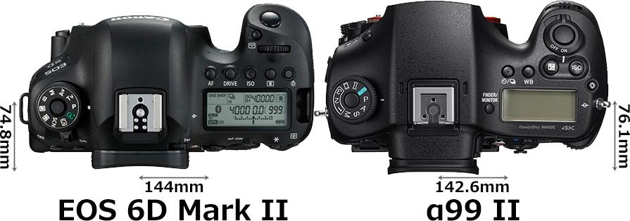 「EOS 6D Mark II」と「α99 II」 3