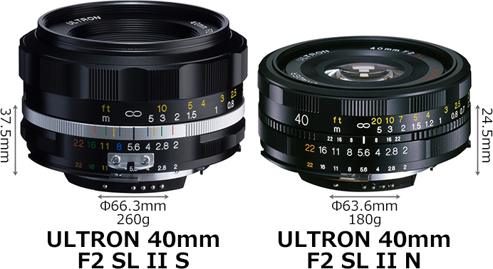 「ULTRON 40mm F2 SL II S」と「ULTRON 40mm F2 SL II N」 1