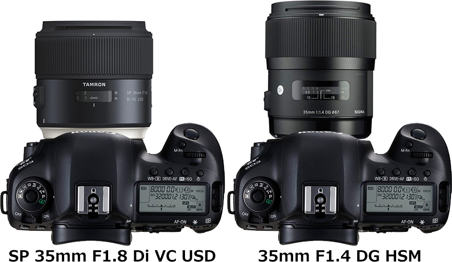 「SP 35mm F1.8 Di VC USD」と「35mm F1.4 DG HSM」 2