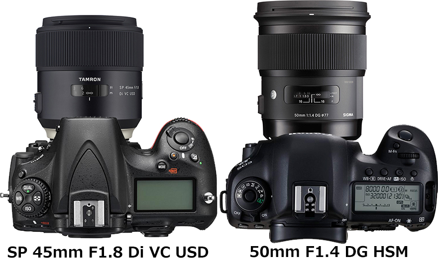 「SP 45mm F1.8 Di VC USD」と「50mm F1.4 DG HSM」 2
