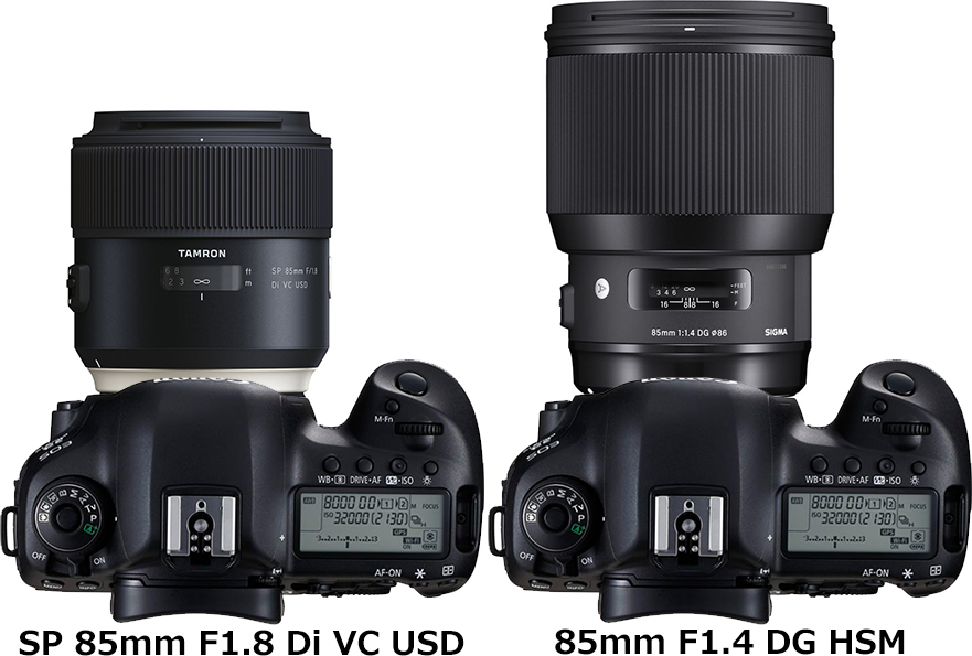 「SP 85mm F1.8 Di VC USD」と「85mm F1.4 DG HSM」 2