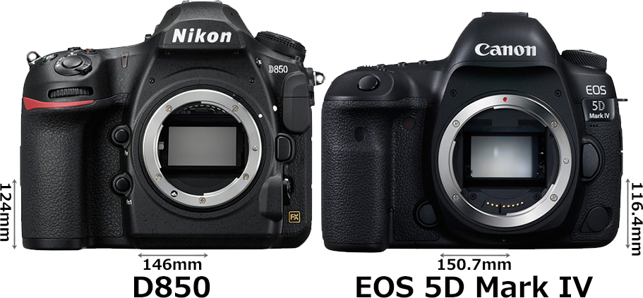 「D850」と「EOS 5D Mark IV」 1