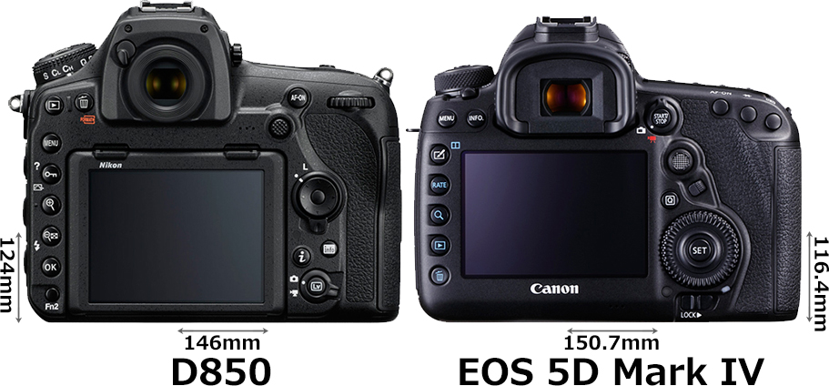 「D850」と「EOS 5D Mark IV」 2