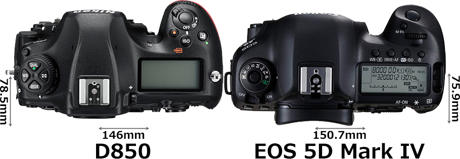 「D850」と「EOS 5D Mark IV」 3