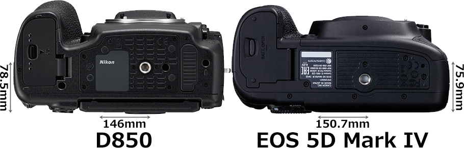「D850」と「EOS 5D Mark IV」 4