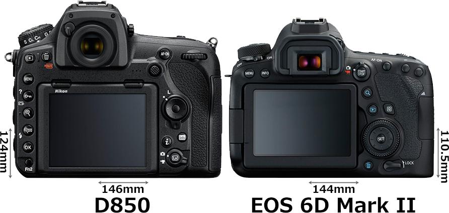 「D850」と「EOS 6D Mark II」 2