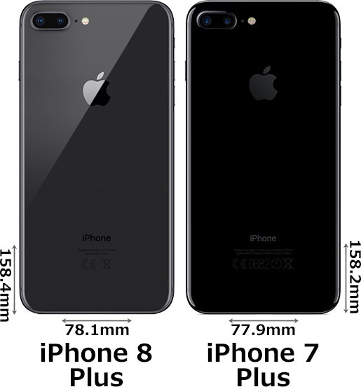 「iPhone 8 Plus」と「iPhone 7 Plus」 2