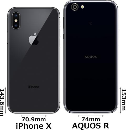 「iPhone X」と「AQUOS R」 2