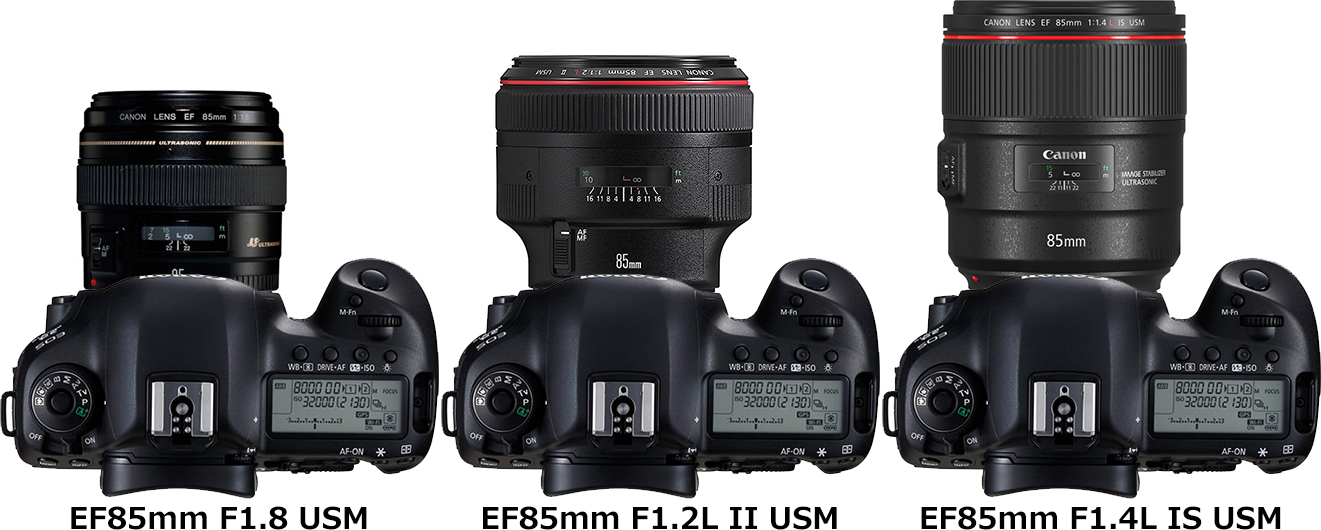 「EF85mm F1.4L IS USM」と「EF85mm F1.2L II USM」と「EF85mm F1.8 USM」 2