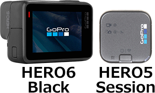 「GoPro HERO6」と「HERO5 Session」 2
