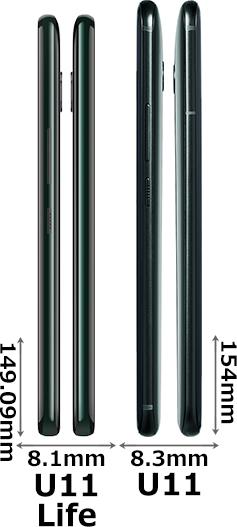 「HTC U11 life」と「HTC U11」 3