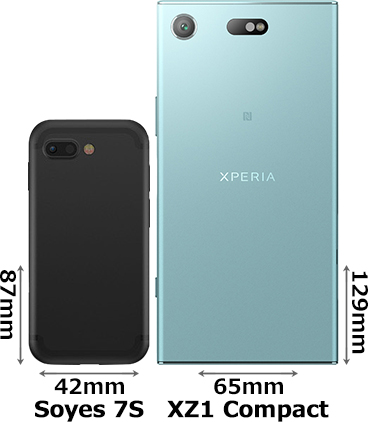 「Soyes 7S」と「Xperia XZ1 Compact」 2
