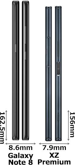 「Galaxy Note 8」と「Xperia XZ Premium」 3