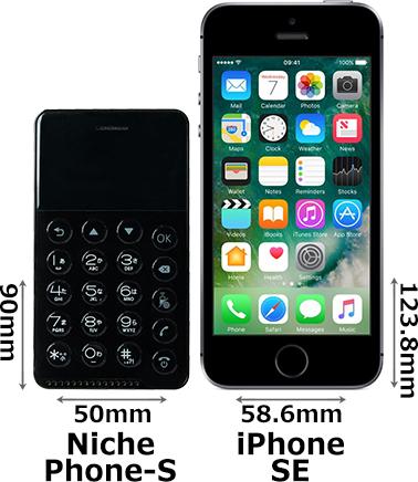 「NichePhone-S」と「iPhone SE」 1
