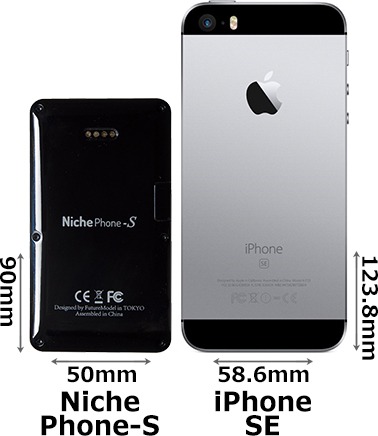 「NichePhone-S」と「iPhone SE」 2