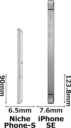 「NichePhone-S」と「iPhone SE」 3