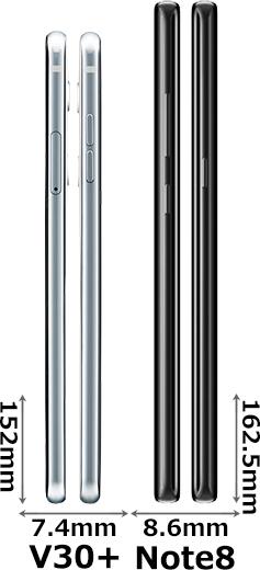 「V30+」と「Galaxy Note8」 3