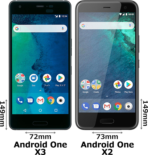 「Android One X3」と「Android One X2」 1