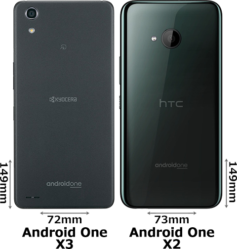 「Android One X3」と「Android One X2」 2