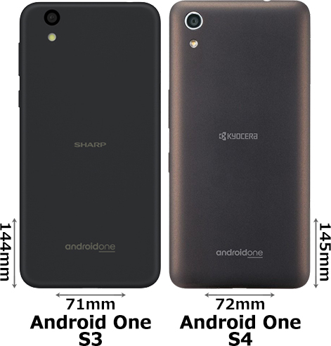 「Android One S3」と「Android One S4」 2