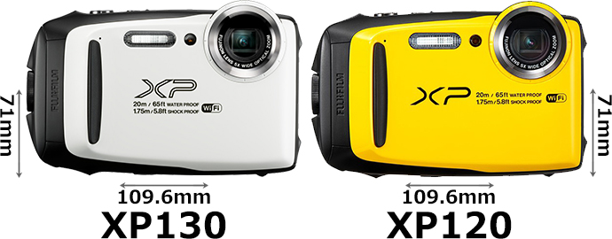 「FinePix XP130」と「FinePix XP120」 1
