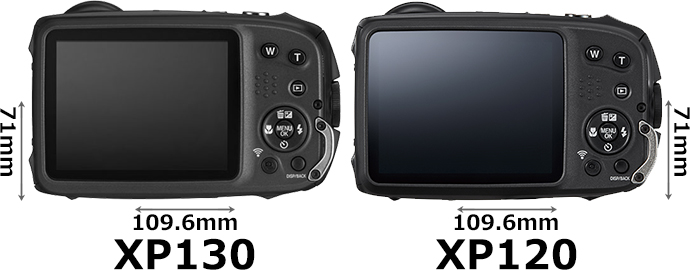「FinePix XP130」と「FinePix XP120」 2