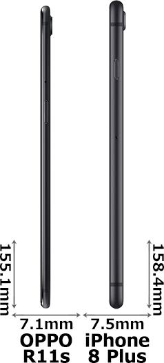 「R11s」と「iPhone 8 Plus」 3