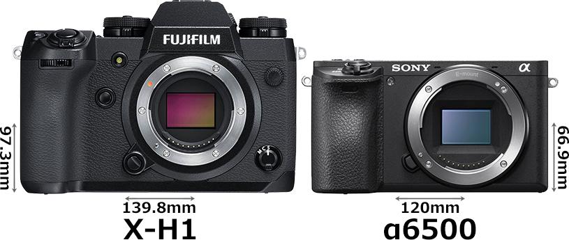 「FUJIFILM X-H1」と「α6500」 1