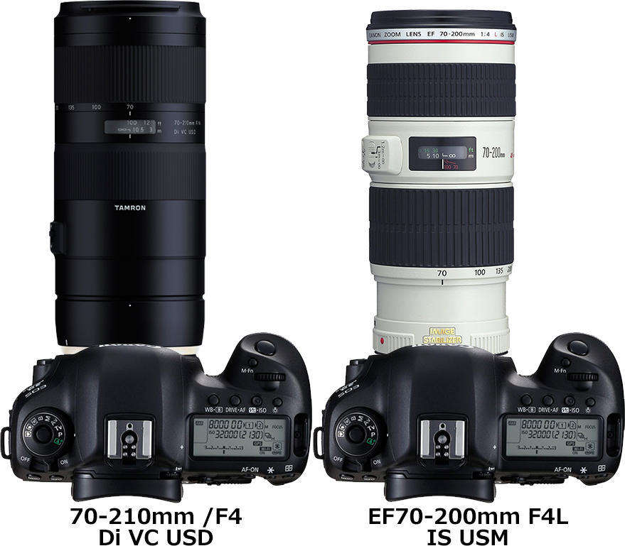 「70-210mm /F4 Di VC USD (Model A034)」と「EF70-200mm F4L IS USM」 2