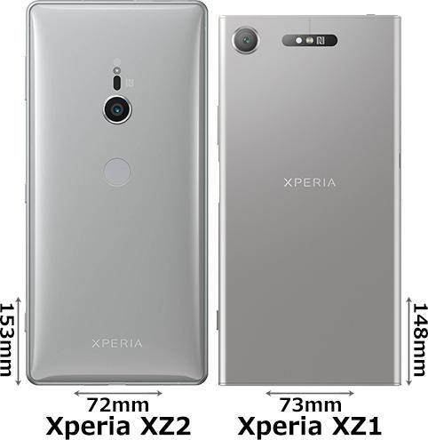 「Xperia XZ2」と「Xperia XZ1」 2