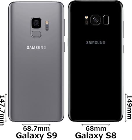 「Galaxy S9」と「Galaxy S8」 2