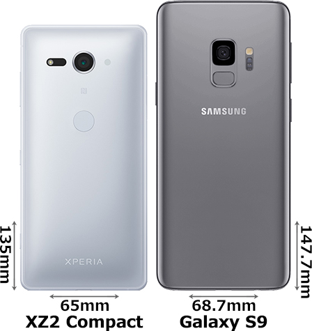 「Xperia XZ2 Compact」と「Galaxy S9」 2