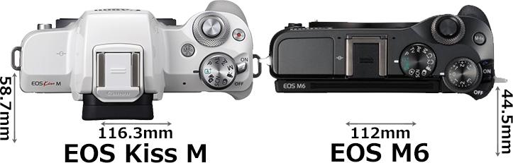「EOS Kiss M」と「EOS M6」 3