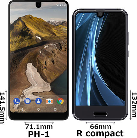 「Essential Phone PH-1」と「AQUOS R compact」 1