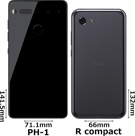 「Essential Phone PH-1」と「AQUOS R compact」 2