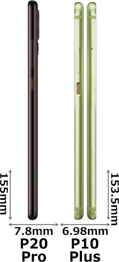 「HUAWEI P20 Pro」と「P10 Plus」 3