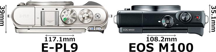 「OLYMPUS PEN E-PL9」と「EOS M100」 3
