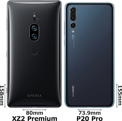 「Xperia XZ2 Premium」と「HUAWEI P20 Pro」 2