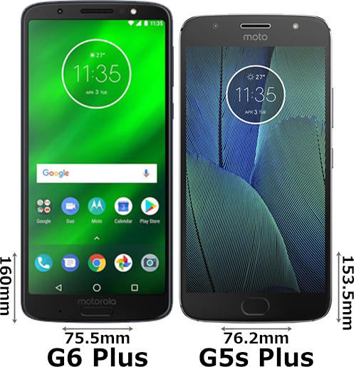 「Moto G6 Plus」と「Moto G5s Plus」 1