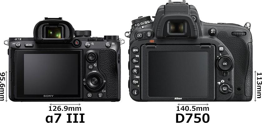 「α7 III」と「D750」 2