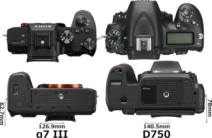 「α7 III」と「D750」 3