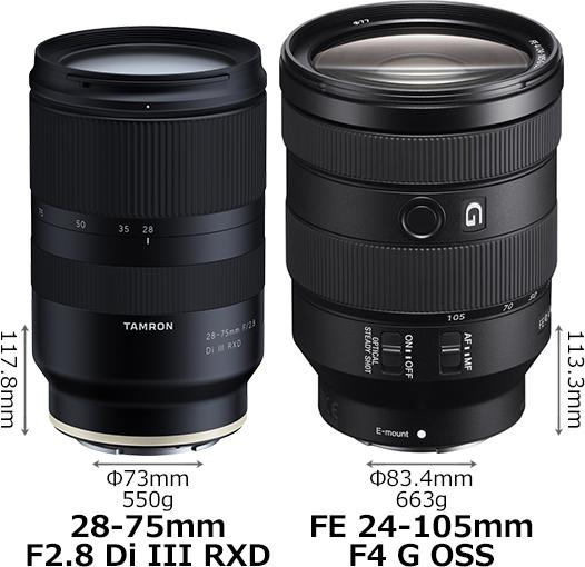 「28-75mm F2.8 Di III RXD」と「FE 24-105mm F4 G OSS」 1