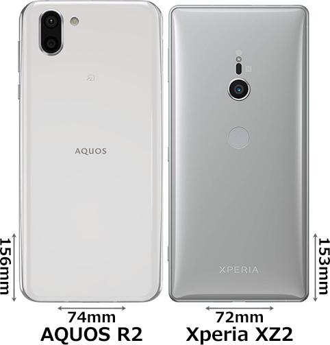 「AQUOS R2」と「Xperia XZ2」 2
