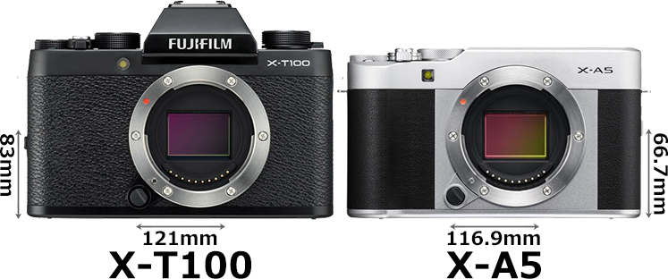 「FUJIFILM X-T100」と「FUJIFILM X-A5」 1