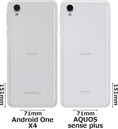 「Android One X4」と「AQUOS sense plus」 2