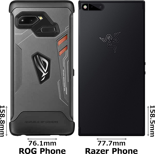 「ROG Phone」と「Razer Phone」 2